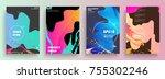 artistic covers design.... | Shutterstock .eps vector #755302246