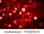 the beautiful christmas... | Shutterstock . vector #755305270