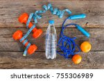 sports equipment  water and... | Shutterstock . vector #755306989
