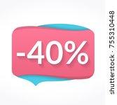sale sticker  pink discount...   Shutterstock .eps vector #755310448