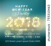 beautiful party flyer with ... | Shutterstock .eps vector #755310463