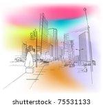 urban scenery | Shutterstock .eps vector #75531133