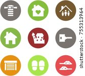 origami corner style icon set   ... | Shutterstock .eps vector #755313964