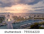 view from the tour eiffel in... | Shutterstock . vector #755316223