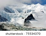 bionnasay glacier  mont blanc ...