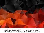 light orange vector blurry... | Shutterstock .eps vector #755347498