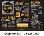 bakery dessert menu for... | Shutterstock .eps vector #755353258