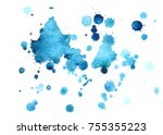 abstract watercolor background... | Shutterstock . vector #755355223