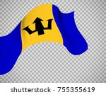 barbados flag icon on... | Shutterstock .eps vector #755355619