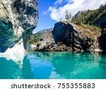 puerto marmol  carrera lake | Shutterstock . vector #755355883