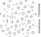 geometric vector pattern with... | Shutterstock .eps vector #755369548