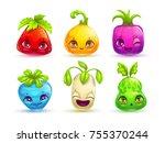 funny cartoon colorful fantasy... | Shutterstock .eps vector #755370244