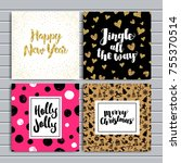 set of creative cards....   Shutterstock .eps vector #755370514