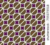 conceptual seamless pattern... | Shutterstock .eps vector #755375518