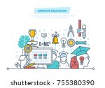 creative education. training ... | Shutterstock .eps vector #755380390