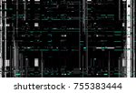 glitch texture. computer screen ... | Shutterstock .eps vector #755383444