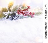 christmas holiday background | Shutterstock . vector #755385274