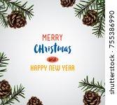 christmas greeting card.vector | Shutterstock .eps vector #755386990