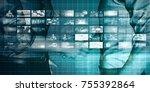 business technologies as a... | Shutterstock . vector #755392864