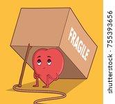 heart in a trap vector...   Shutterstock .eps vector #755393656