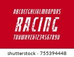 narrow italic sans serif font... | Shutterstock .eps vector #755394448