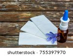 Small photo of Handkerchief and cold sneeze as a help for colds