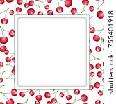 watercolor frame background... | Shutterstock . vector #755401918