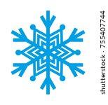 snowflake vector icon | Shutterstock .eps vector #755407744