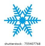 snowflake vector icon | Shutterstock .eps vector #755407768