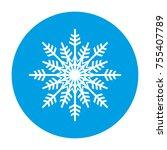 snowflake vector icon | Shutterstock .eps vector #755407789