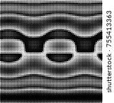 abstract grunge grid polka dot... | Shutterstock .eps vector #755413363