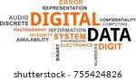 a word cloud of digital data...   Shutterstock .eps vector #755424826