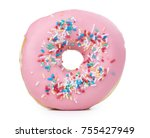 some fresh made donuts isolated ... | Shutterstock . vector #755427949