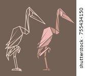set vector simple illustration... | Shutterstock .eps vector #755434150