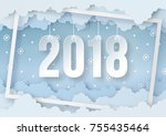 illustration of happy new year... | Shutterstock .eps vector #755435464