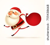 santa claus is coming  santa... | Shutterstock .eps vector #755438668