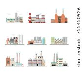 set of isolated huge or big... | Shutterstock .eps vector #755450926
