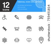 medical icon collection vector... | Shutterstock .eps vector #755451814