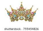 crown  decorative elements in...   Shutterstock . vector #755454826