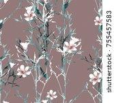 grass seamless pattern.... | Shutterstock . vector #755457583
