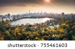new york panorama from central... | Shutterstock . vector #755461603