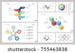 seven production slide... | Shutterstock .eps vector #755463838