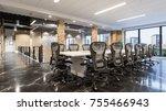 meeting office. modern office... | Shutterstock . vector #755466943