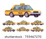 yellow taxi car. company... | Shutterstock .eps vector #755467270