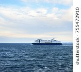 passenger ferry on the baltic... | Shutterstock . vector #755472910