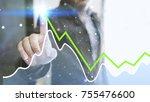 businessman analysis diagram....   Shutterstock . vector #755476600