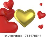 hearth and love   3d | Shutterstock . vector #755478844