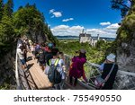 neuschwanstein castle  germany  ...   Shutterstock . vector #755490550