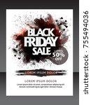 black friday sale  black friday ... | Shutterstock .eps vector #755494036