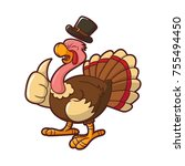 illustration of turkey for... | Shutterstock .eps vector #755494450